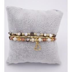 Armband 3er Set gold beige...
