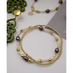 Armband 2er Set in grün,...