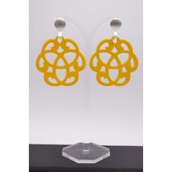 Ohrringe aus Horn in gelb...