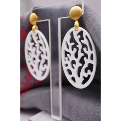 Ohrringe aus Horn Design...