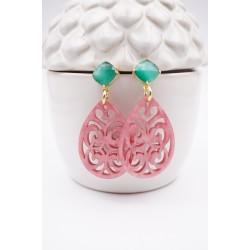 Ohrringe Tracht in rosa und...